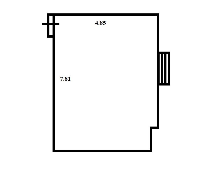 план помещения 37.6 мансарда